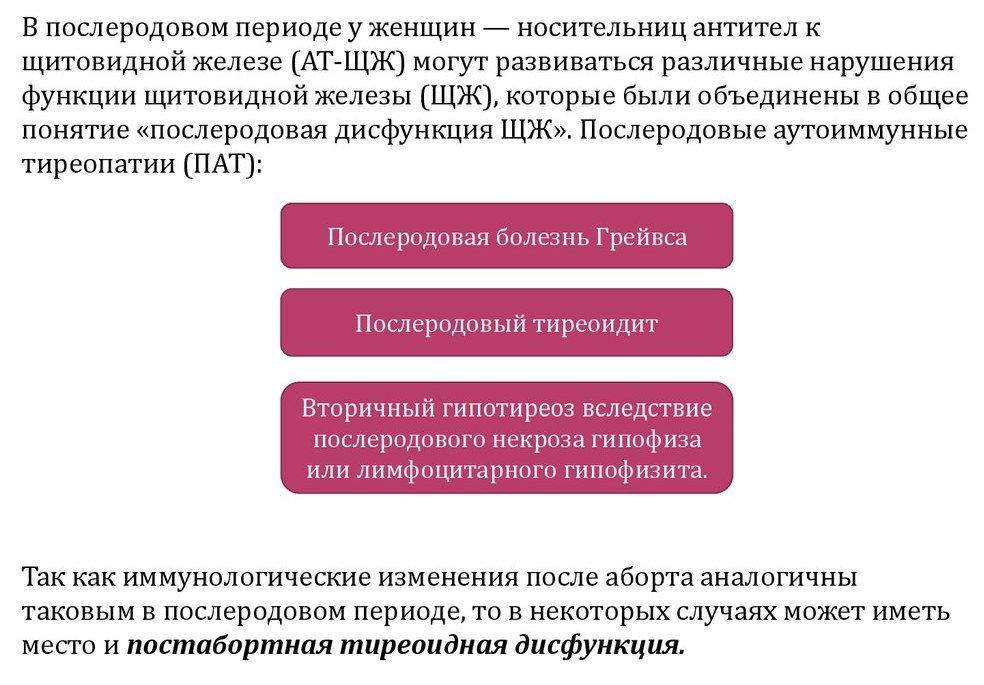 лечение послеродового тиреоидита