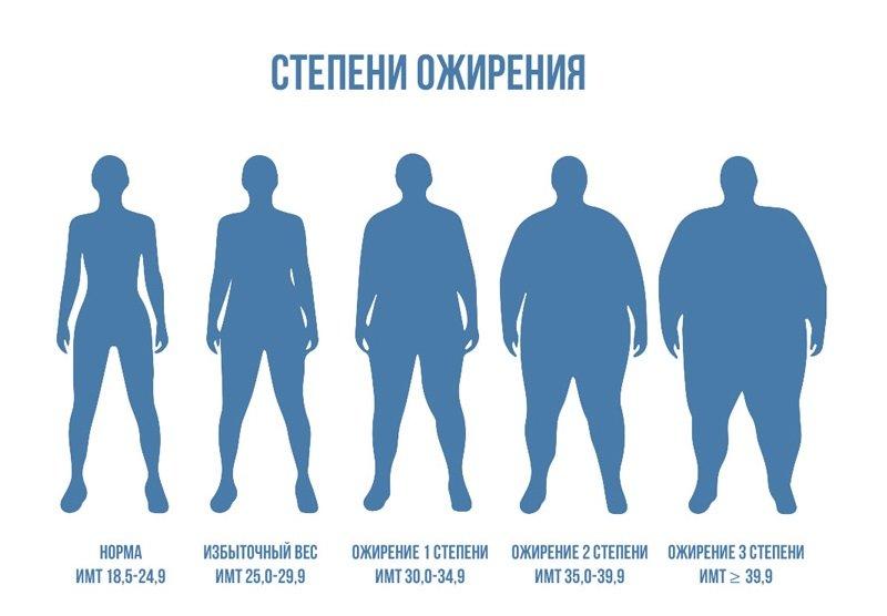 ожирение и его основные степени
