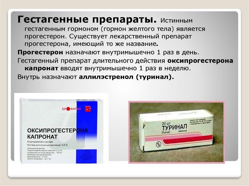 препараты с гестагеном в составе