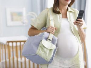 беременная собирается в роддом