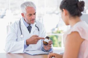 беседа беременной с врачом